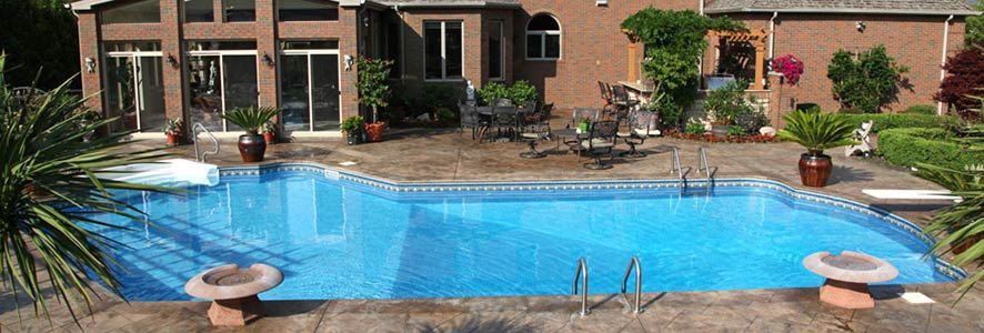 L-Shaped InGround Pool